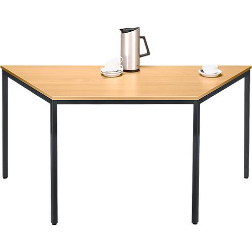 stahlrohr tisch trapez 1600 800 x 690 mm g nstig kaufen. Black Bedroom Furniture Sets. Home Design Ideas