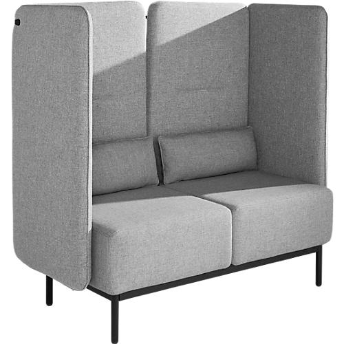 fauteuil deux places dialog avec l ment acoustique panneaux lat raux et arri re rembourr s. Black Bedroom Furniture Sets. Home Design Ideas
