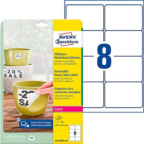 99 1 x 67 7 mm label template - avery zweckform wetterfeste folien etiketten l4715rev 20