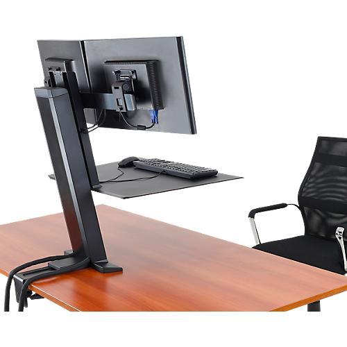 ergotron workfit sr dual monitor sitz steh schreibtisch arbeitsplatz g nstig kaufen sch fer shop. Black Bedroom Furniture Sets. Home Design Ideas