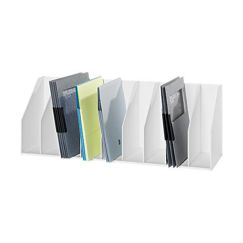 stehsammler wei mit fester einteilung 9 oder 13 f cher f r aktenordner g nstig kaufen. Black Bedroom Furniture Sets. Home Design Ideas