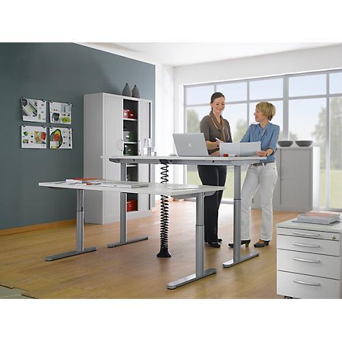 schreibtisch trentec rundrohr elektrisch h henverstellbar b 1600 oder 1800 mm g nstig kaufen. Black Bedroom Furniture Sets. Home Design Ideas