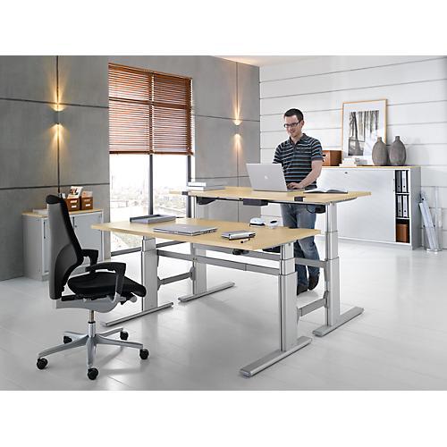 schreibtisch komfort ansatz zweistufig elektr h henverstellbar h 655 1305 mm g nstig. Black Bedroom Furniture Sets. Home Design Ideas