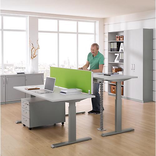 komplettset schreibtisch und rolly ergo t manuell h heneinstellbar tisch b 1600 mm g nstig. Black Bedroom Furniture Sets. Home Design Ideas