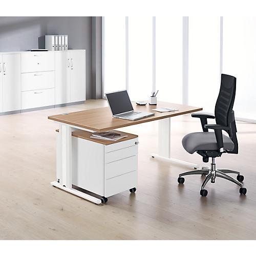 komplettset planova basic schreibtisch b 1600 mm rollcontainer akzentleisten g nstig kaufen. Black Bedroom Furniture Sets. Home Design Ideas