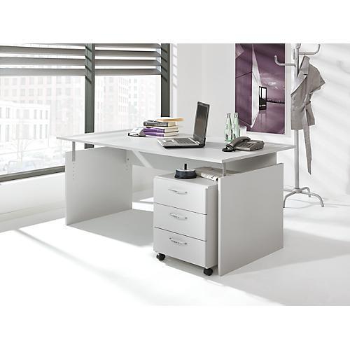 komplettset schreibtisch und rollcontainer baralonis wangengestell container 3 sch be g nstig. Black Bedroom Furniture Sets. Home Design Ideas