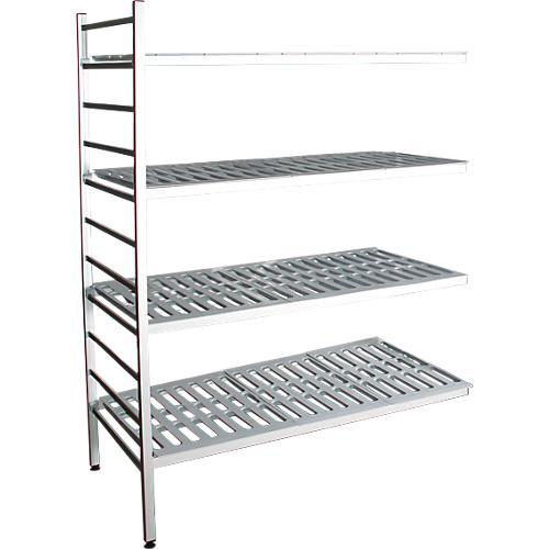 aluminium steckregal anbaufeld mit 4 kunststoff rost fachb den h 1800 x b 1000 mm g nstig. Black Bedroom Furniture Sets. Home Design Ideas