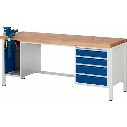 werkbank modell 8185 4 schubladen schrank mit einschiebet r inkl schraubstock g nstig kaufen. Black Bedroom Furniture Sets. Home Design Ideas
