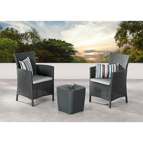 best balkon set napoli 3 teilig rattan optik komplett mit sitzkissen g nstig kaufen sch fer. Black Bedroom Furniture Sets. Home Design Ideas