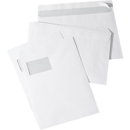 200x Versandtaschen C4 braun Umschlag für A4 mit Haftklebung haftklebend Fenster
