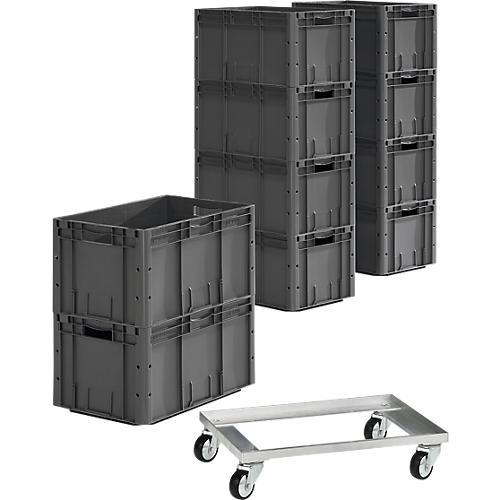 Kunststoff Steckregal 605 Schwarz 135 x 60 x 30 cm kaufen