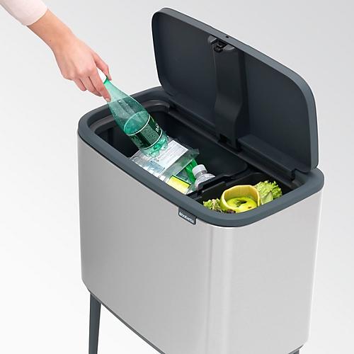 Brabantia Rechthoekige Pedaalemmer 25 Liter.Afvalverzamelaar Brabantia Bo Touch Bin Met 2 Binnen Emmers 23 Liter 11 Liter White
