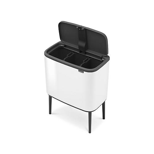 Brabantia Touch Bin Afvalverzamelaar 30 Liter.Afvalverzamelaar Brabantia Bo Touch Bin Met 3 Binnen Emmers 3 X 11 Liter White