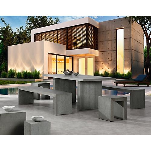 best gro e sitzgruppe rockall wetterfest beton glasfaser tisch rechteckig g nstig kaufen. Black Bedroom Furniture Sets. Home Design Ideas