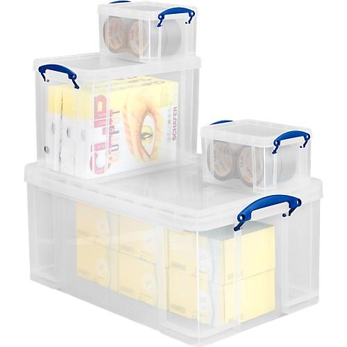 Box Kunststoff Really Useful Boxes Set Transparent Inkl Deckel