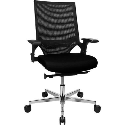 Verstelbare Bureaustoel Zwart.Bureaustoel T300 Met In Hoogte Verstelbare Armleuningen Elegante