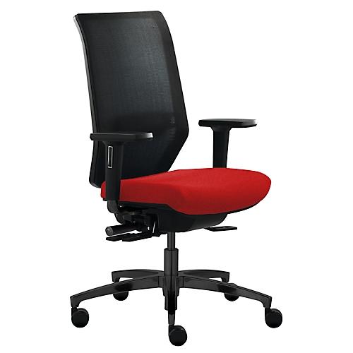 dauphin b rostuhl shape mesh mit armlehnen lendenwirbelst tze sitzzeit 8 stunden g nstig. Black Bedroom Furniture Sets. Home Design Ideas