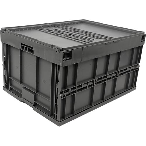 euro ma faltbox 8645 ds mit deckel f r lager und. Black Bedroom Furniture Sets. Home Design Ideas