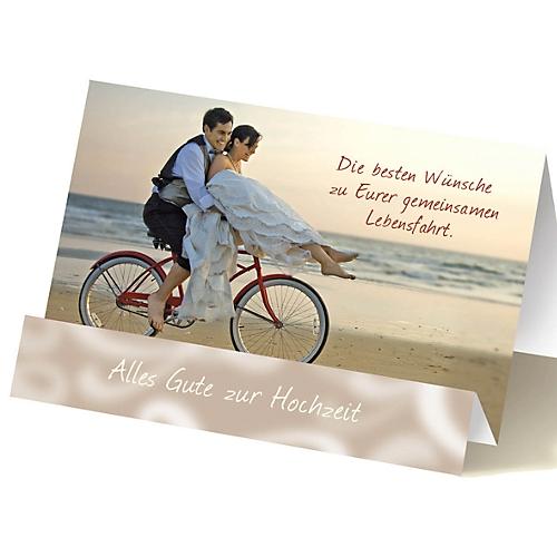 Extraknick Hochzeitskarte Paar Auf Fahrrad Mit 3d Effekt Mit