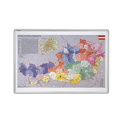 Postleitzahlen Karte.Postleitzahlenkarte Oesterreich Ka447pa