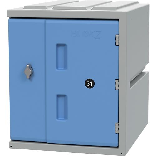 Kast Bloxz 450 Kunststof Draaislot B 385 X D 470 X H 450 Mm 1 Compartiment 1 Compartiment Blauw