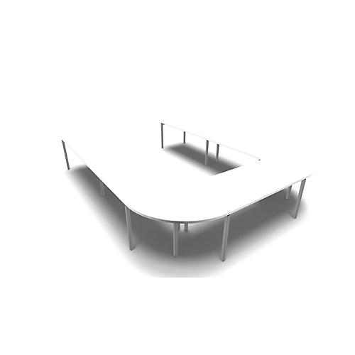 konferenztischsystem idea u form 12 pl tze b 3200 x t 4000 mm g nstig kaufen sch fer shop. Black Bedroom Furniture Sets. Home Design Ideas
