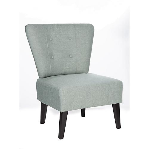 Lounge Sessel Brighton Stoffbezug Vintage Look Massivholzbeine