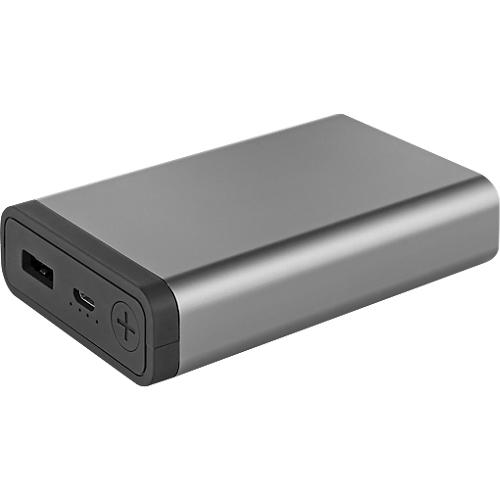 Powerbank Metmaxx Mr Charge Compactmetall 10 000 Mah Titan Schwarz Inkl Werbeanbringung