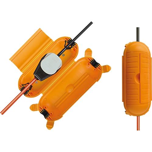 safe box f r kabel gelb schutzklasse ip44 extragro. Black Bedroom Furniture Sets. Home Design Ideas