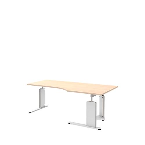 Schreibtisch Bari C Fuß Form B Freiform Ansatz Linksrechts B