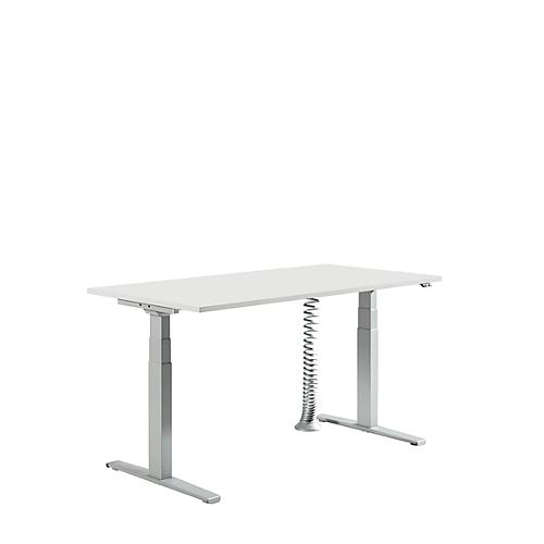 Set Elektrisch Höhenverstellbarer Tisch Platte Lichtgrau B1600