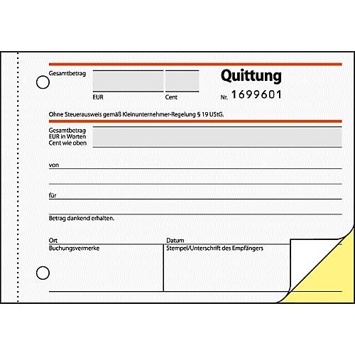 Sigel Quittung Sd120 Für Kleinunternehmer Ohne Mwst Ausweis