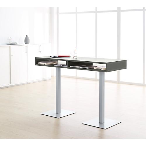 steh konferenztisch box mit ablage boxen h he 1050 mm. Black Bedroom Furniture Sets. Home Design Ideas