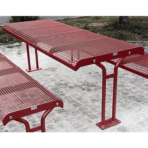 Tisch essen mit flansch f r 4er sitzbank essen in ral for Design tisch taschenrechner