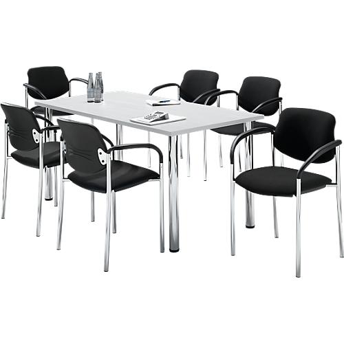 Tisch Mit 4 Oder 6 Besucherstühlen SET Günstig Kaufen