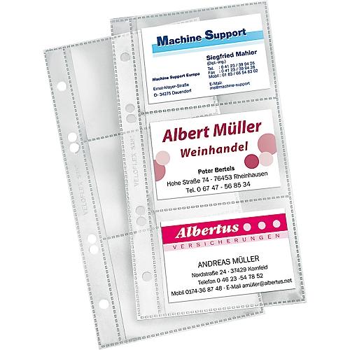 Veloflex Visitenkartenhülle Din A5 Transparent 10 Stück
