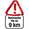 Reichweite 9km