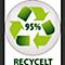 aus 95 % recyceltem Material