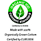 100% bio. angebaute Baumwolle