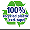 100% recycled plastic