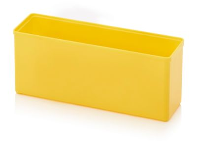 Assortimentsdoos Inzetbak, rechthoekig, robuust ABS-kunststof, geel