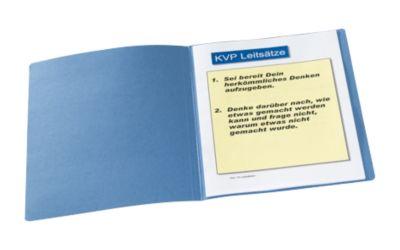 Documentenmappen, van karton 240 g/ m², voor A4 formaat, blauw, 20 stuks