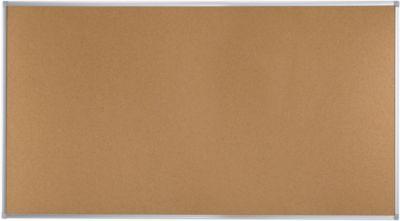 Ecologische kurkbord EARTH-IT met aluminium frame, 1800 x 900 mm