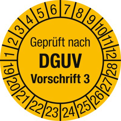 Gekeurd volgens DGUV voorschrift 3 (2020-2029), Duitstalig
