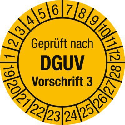 Geprüft nach DGUV Vorschrift 3 (2020-2029)