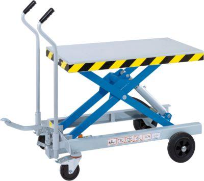 Handmatige verrijdbare schaarheftafel Hebefix HF 2C-500, draagvermogen 500 kg