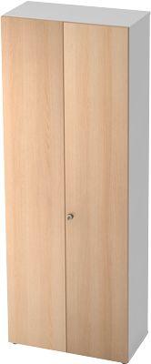 Kast TOPAS LINE, archief/garderobekast, 6 ordnerhoogten, b 800 mm, wit/eikendecor