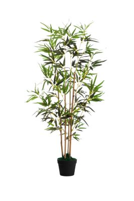 kunstplant PAPERFLOW bamboe, groen, gemaakt van PE, incl. kunststof pot, H 1200 mm