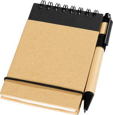 Notizblock mit Gummibandverschluss, 40 Blatt liniert, inklusive Stiftschlaufe & Stift