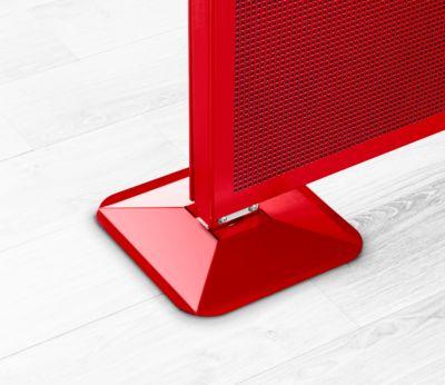 Rechteckfuß Akustika, f. Trennwände Akustika, höheneinstellbar, Farbe rot
